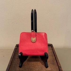 Vintage Bosca Red Leather Money Wallet